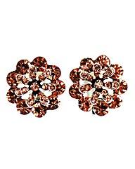 Diamante Flower Earring