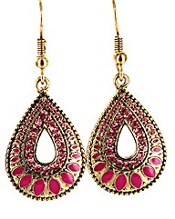 Colourful Teardrop Earring