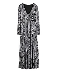 Simply Be Plunge Neck Print Maxi Dress