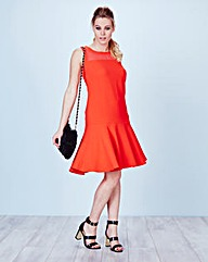 Simply Be Peplum Hem Crepe Dress