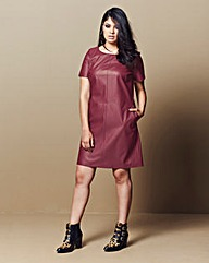 Simply Be PU Shift Dress