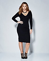 Magisculpt Deep V Neck Bodycon Dress