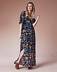 Maxi Dress With Slits and Long Sleeves