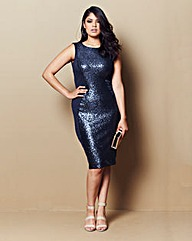 Sequin Illusion Bodycon Dress