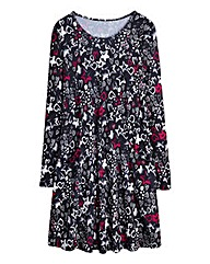 Star Print Jersey Swing Dress Regular