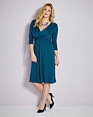 BESPOKE Knot Front Jersey Dress E Plus
