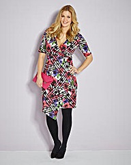 BESPOKEFIT Mock Wrap Dress-Standard