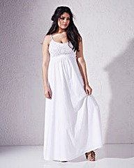 Shirred Back Maxi Dress