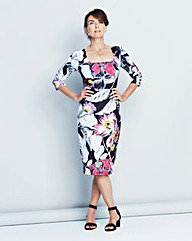 Printed Scuba Bodycon Dress