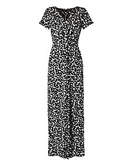 Butterfly Twist Knot Front Maxi Dress