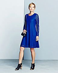 Spot Jacquard Lace Swing Dress
