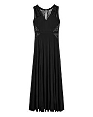 Lace-Trim Jersey Maxi Dress
