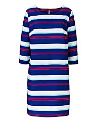 Stripe Print Tunic Dress