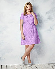 Short Sleeve Lace Skater Dress