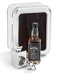 Jack Daniels Whiskey & Hip Flask Tin Set