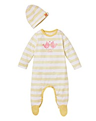KD BABY Sleepsuit and Hat Set