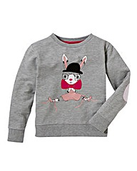 KD MINI Girls Bunny Sweatshirt (2-7 year