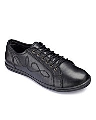 Girls Lace Up School Shoes Standard Fit