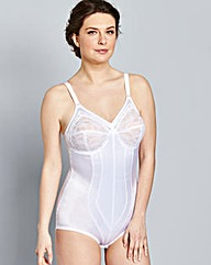 Medium Control White Pantee Corselet