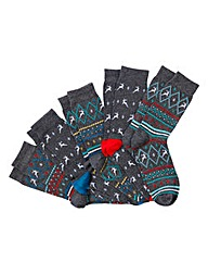 Jacamo Pack of 5 Christmas Socks