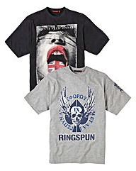 Ringspun Pack of Two T-shirts