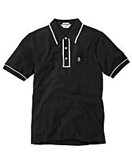 Penguin Earl Black Polo Shirt Long