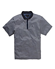 Black Label By Jacamo Jacquard Polo L