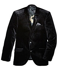 Black Label Velvet Blazer Long
