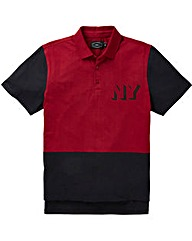 Label J Colour Block Polo Long