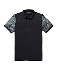 Label J Camo Sleeve Polo Long