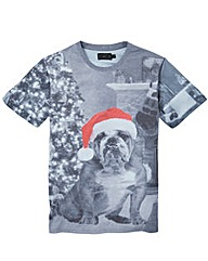 Label J Bulldog Xmas Tee Long