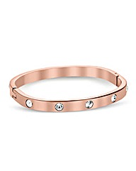 Jon Richard Rose Gold Curved Bangle