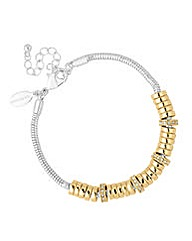 Jon Richard Two Tone Crystal Bracelet