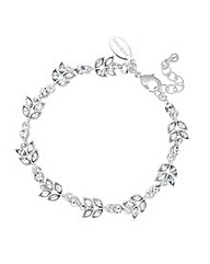 Jon Richard Crystal Leaf Link Bracelet
