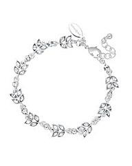 Jon Richard Crystal Leaf Link Bracelet