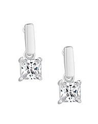 Simply Silver Square Drop Earring