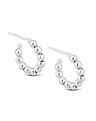 Simply Silver Beaded Hoop Earring