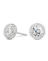 Simply Silver Crystal Stud Earring
