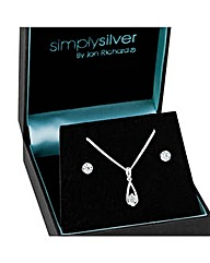 Simply Silver Teardrop Set