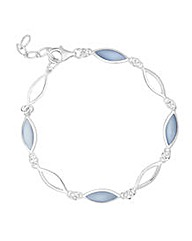 Simply Silver Mother of Pearl Bracelet