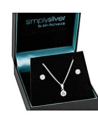Simply Silver Crystal Dome Set