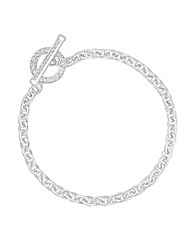 Simply Silver T-Bar Bracelet