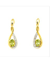 Gold Plated Silver Peridot Earrings