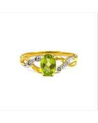 Gold Plated Silver Peridot Ring