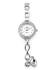 Personalised Ladies Silver Locket Watch