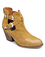 Catwalk Cut Out Ankle Boots E Fit