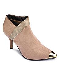 Sole Diva Toe Cap Ankle Boot E Fit