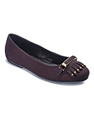 Sole Diva Trim Detail Ballerinas EEE Fit