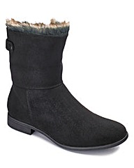 Sole Diva Faux Fur Trim Boot EEE Fit