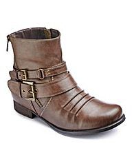 Joe Browns Zip Ankle Boot E Fit